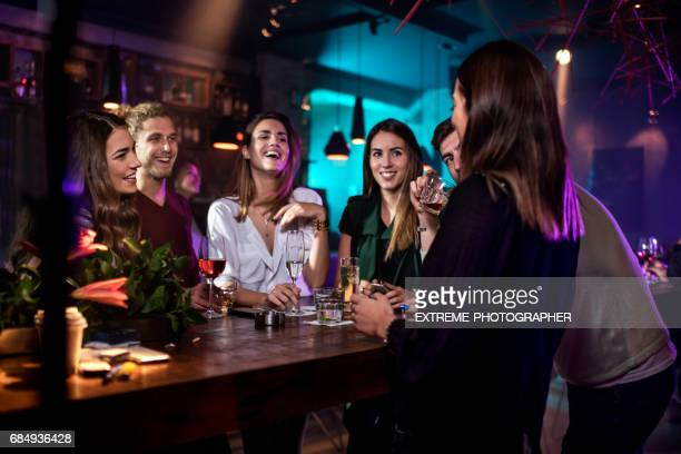 Group of people in the bar