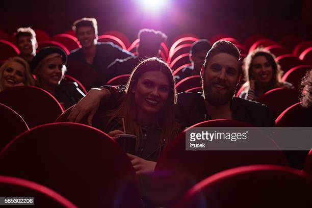 Group of people in the cinema