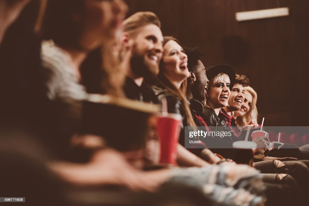 Group of people in the cinema : Stock Photo