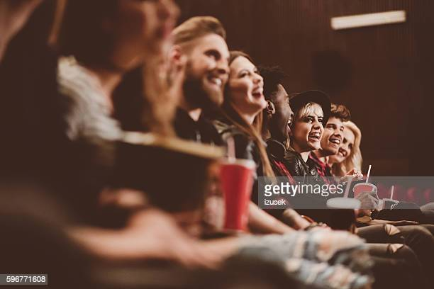 group of people in the cinema - adult film stock photos and pictures