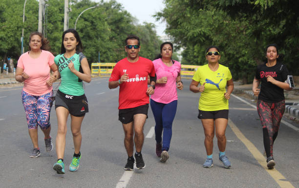IND: People Exercise Outdoors During Nationwide Lockdown To Curb Covid 19 Pandemic