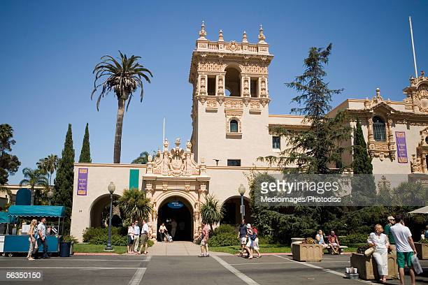 Group of people standing outside a building, House of Hospitality, Balboa Park, San Diego, California, USA