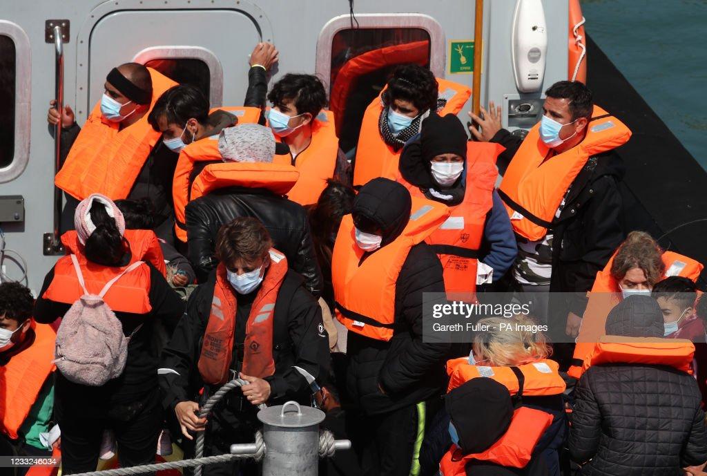 Migrant Channel crossing incidents : Nieuwsfoto's