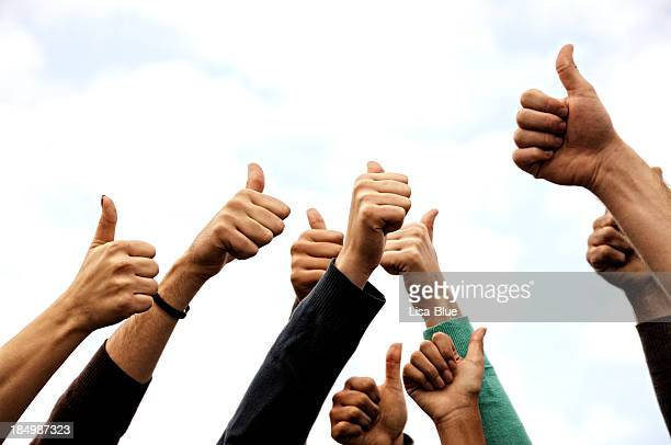 Group Of People Thumbs Up
