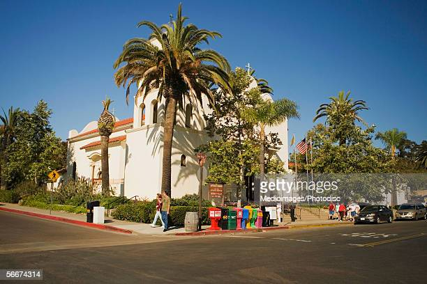 group of people walking on a street corner, old town san diego, california, usa - old town san diego stock pictures, royalty-free photos & images