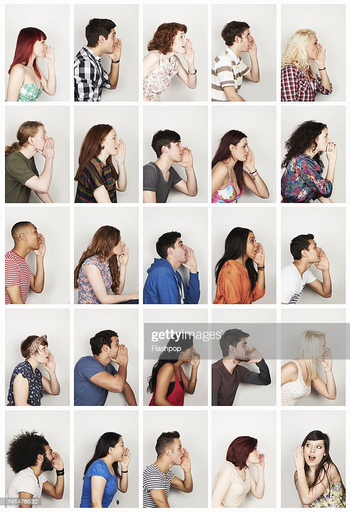 Group of people whispering : Stock Photo