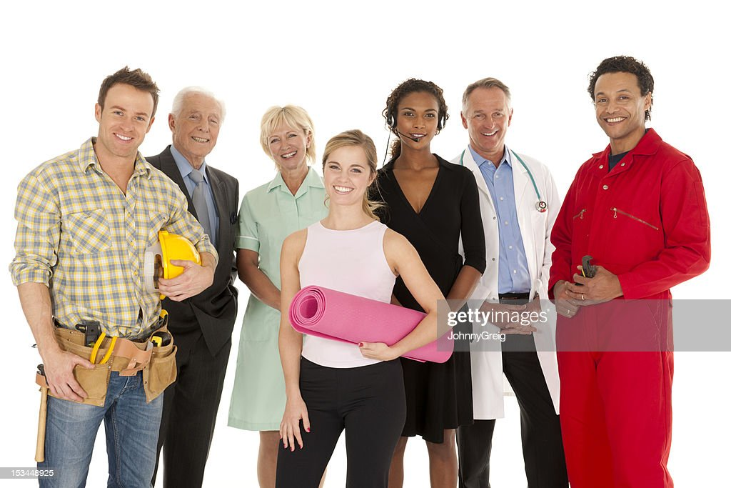Group of People with different occupations : Stock Photo