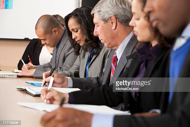 Group of people working in a meeting