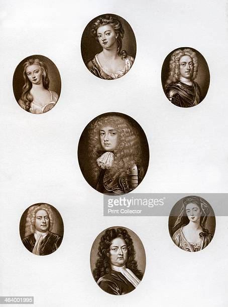 Group of portraits late 17th early 18th century Top Sarah Jennings Duchess of Marlborough top left Lady Katherine Hyde Duchess of Queensberry top...