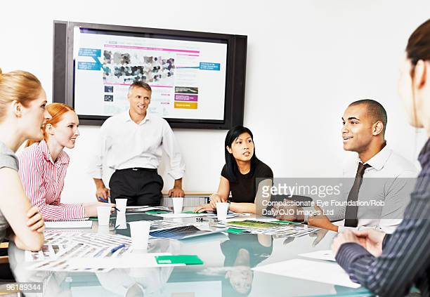 A group of professionals in a meeting