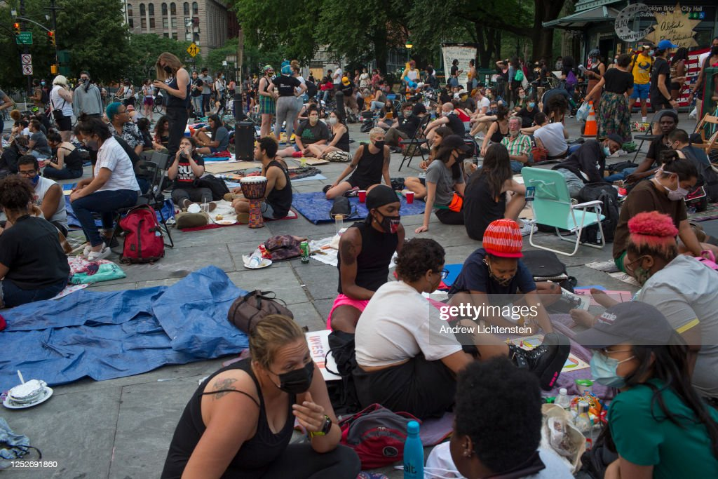 City Hall Park occupation in New York City : News Photo