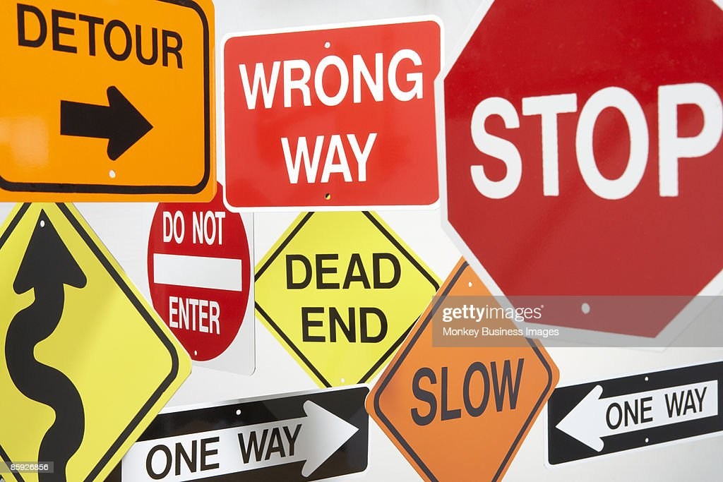 Group Of Road Signs Foto De Stock Getty Images