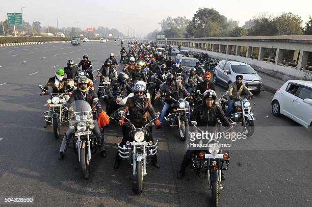 Group of Royal Enfield bikers come together for a Royal Enfield bike rally from Sirhaul Toll Plaza to Sector 14 on Expressway, to remember the recent...