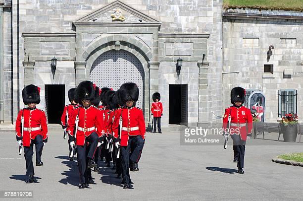 Group of Royal Guards marching at Quebec Citadel