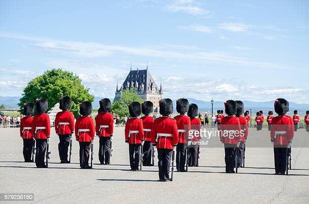 Group of Royal Guards standing at Quebec Citadel