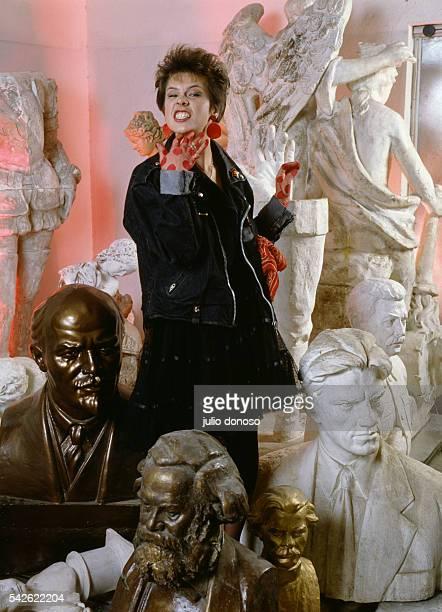A group of sculpture busts including Communist icons Vladimir Ilich Lenin Karl Marx Nikolay Vasilyevich Gogol Vladimir Vladimirovich Mayakovski and...