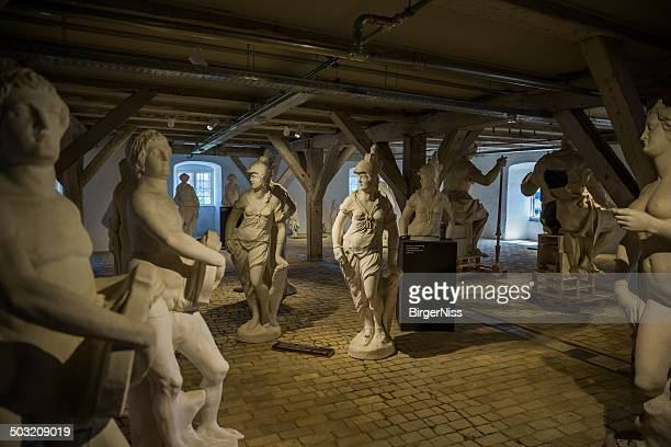 group of sculptures. lapidarium of kings, copenhagen, denmark - collection stock pictures, royalty-free photos & images