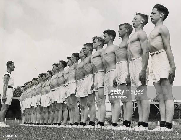 A group of sea cadets give up their holidays to attend a fiveday physical training course under the direction of the Admiralty 28th July 1942
