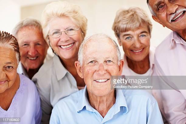 Group of senior people smiling