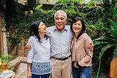 image senior retirement discussion meet up