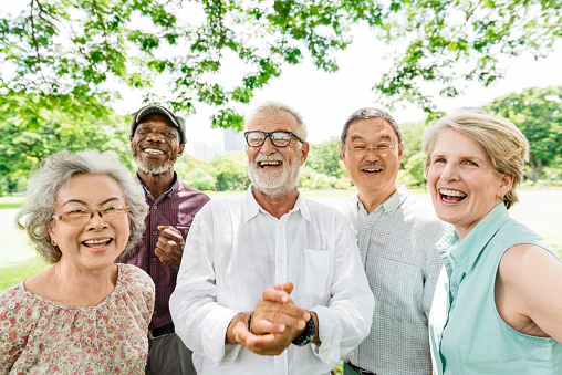Group of Senior Retirement Friends Happiness Concept 660654876