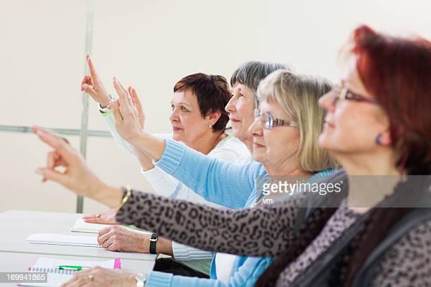 Group Of Senior Women On Seminar