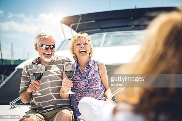 Group Of Seniors Enjoying On Vacations