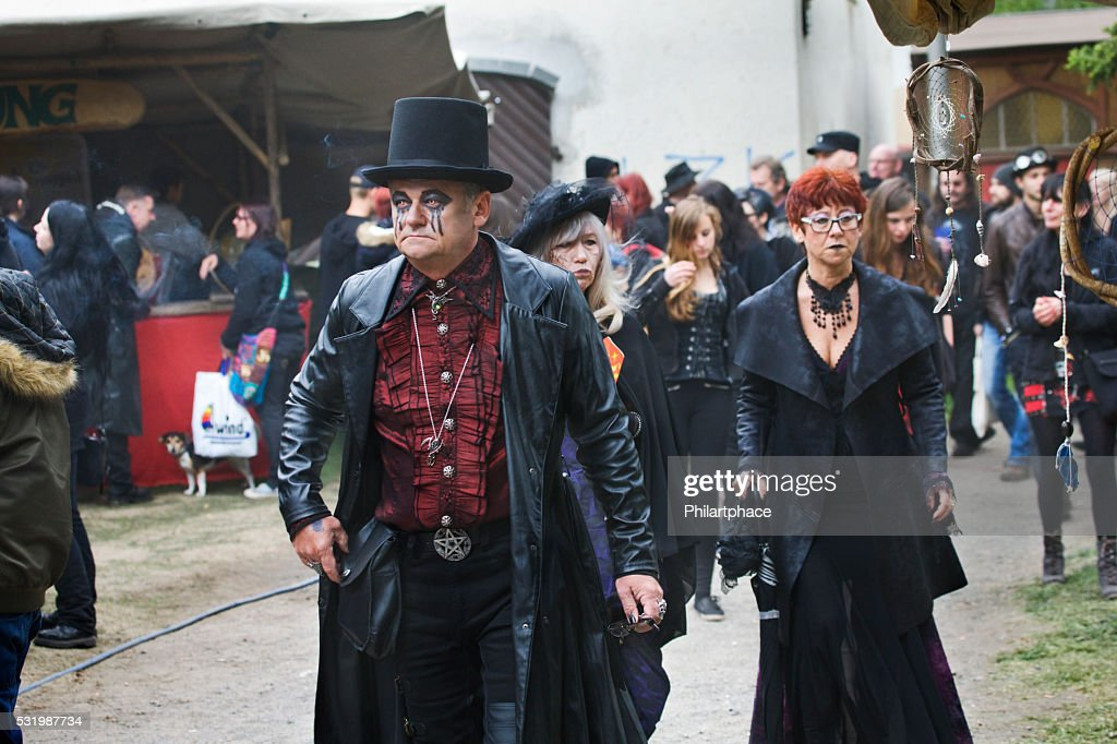 Group Of Seniors In Fantasy Costumes On Wgt Leipzig High Res Stock Photo Getty Images