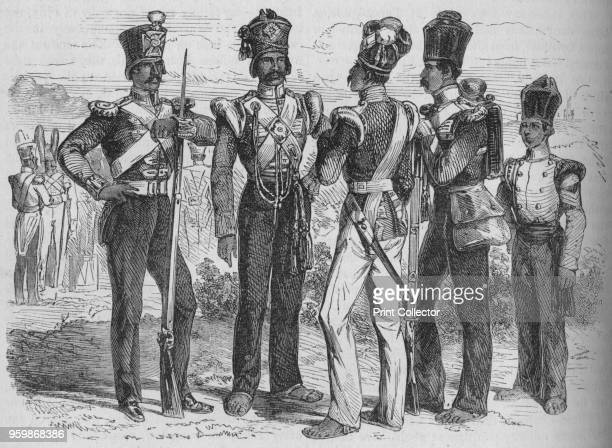 Group of Sepoys' circa 1880 Episode of the AngloPersian War From British Battles on Land and Sea Vol III by James Grant [Cassell Petter Galpin London...