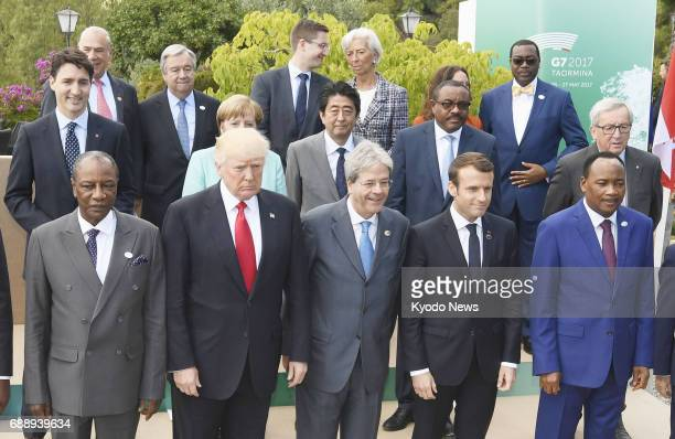 Group of Seven leaders attend a photo session in Taormina Italy on May 27 2017 ==Kyodo