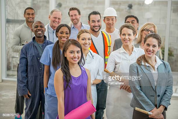 Group of Several Types of Business Professionals