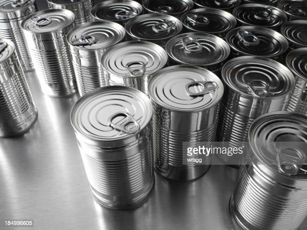 Group of Silver Tin Cans