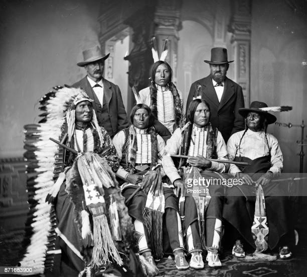Group of Sioux Indians 'Spotted Tail' Standing Joe Merrivale Young Spotted Tail Antoine Janis Seated TouchtheClouds Little Big Man Black Cool