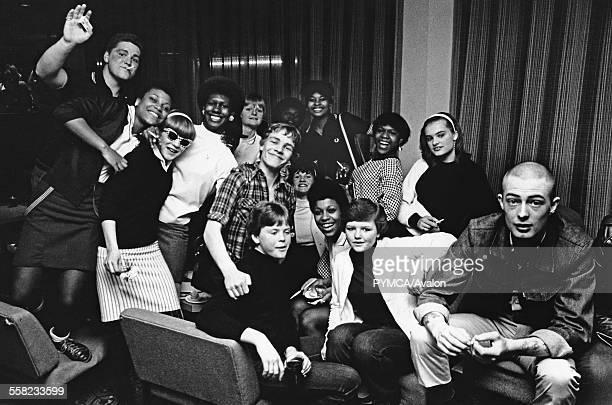 A group of Ska 2 Tone fans at a gig at Friars Aylesbury UK 1980