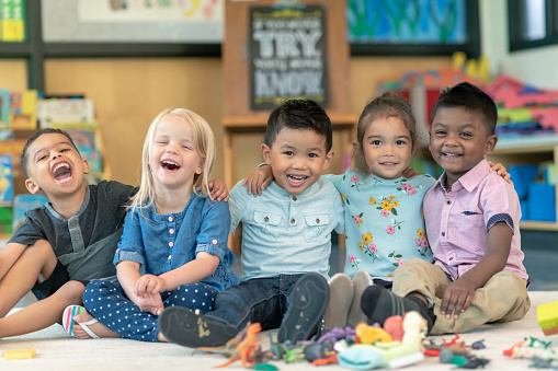 Group of smiling preschool students 1168223108
