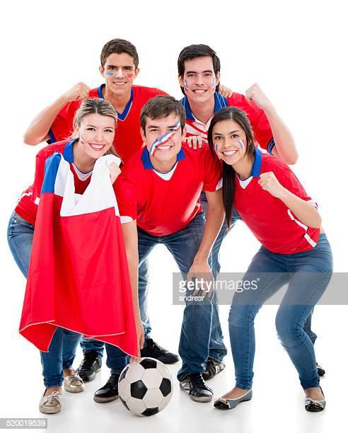 Grupo de los aficionados al fútbol