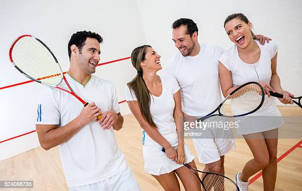Group of squash player