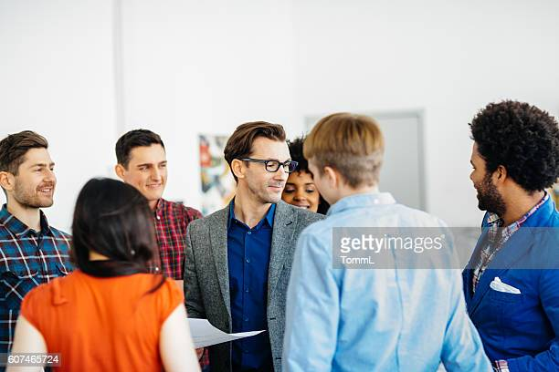 Group of start up people in a team meeting