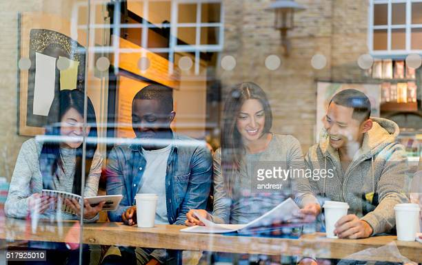 Group of students at a cafe