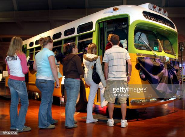 A group of students from Swartz Creek High School in Swartz Creek Michigan board the bus made famous by civil rights pioneer Rosa Parks October 25...