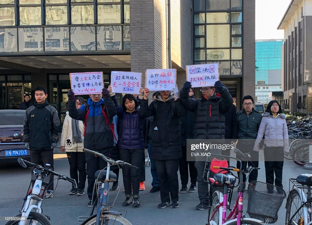 CHINA-RIGHTS-LABOUR-STUDENTS : News Photo