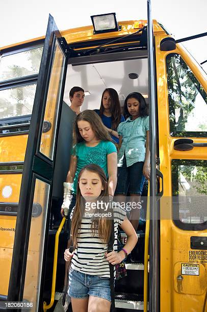 Group of students off the bus