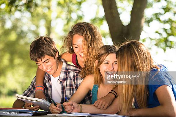 group of students on the park - 18 23 months stock pictures, royalty-free photos & images