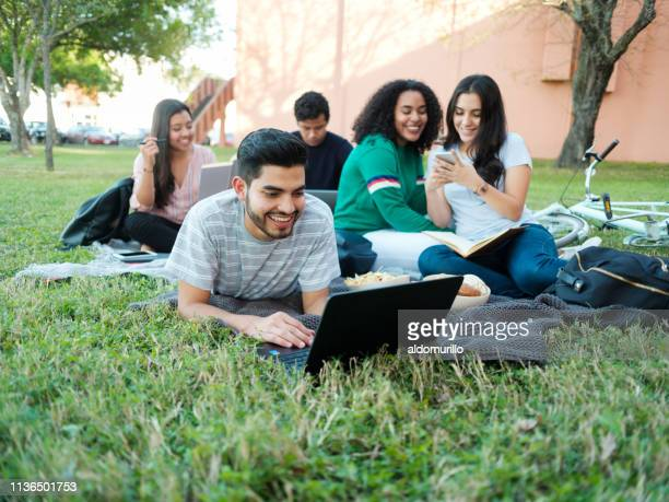 group of students outside - mexican picnic stock pictures, royalty-free photos & images