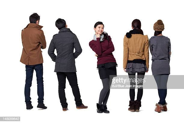 Group of stylish young people