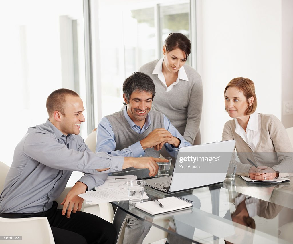 Group of successful business colleagues  : Foto de stock