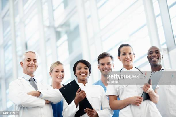 Group of successful heath care professionals