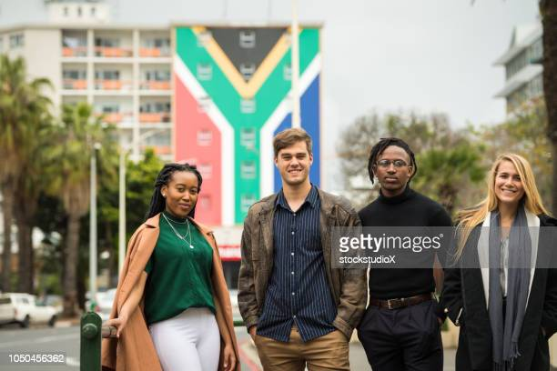 group of successful young african entrepreneurs - south african culture stock photos and pictures