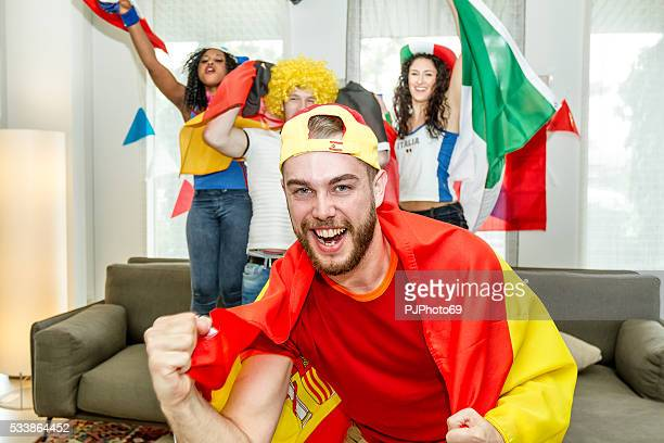 group of supporters rejoicing - pjphoto69 stock pictures, royalty-free photos & images