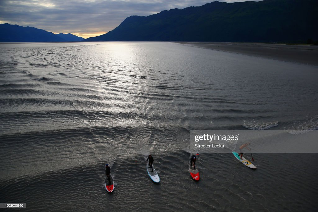 Bore Tide Surfing in Alaska